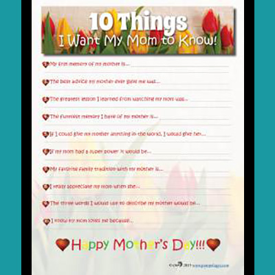 10 Things I Want My Mom to Know
